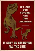 It can't be extinction all the time - flyer by Ermes-Buttolo