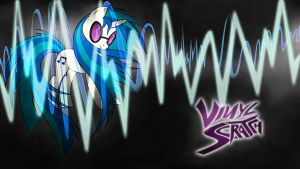Vinyl Scratch Wallpaper by HarmonicViper