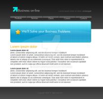Business layout - blue by Bartas1503