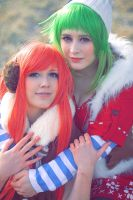 Vocaloid - Winter is coming with Gumi and Miki by flakes-sama