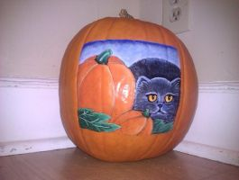 Cat Pumpkin by ASamTsuiFan