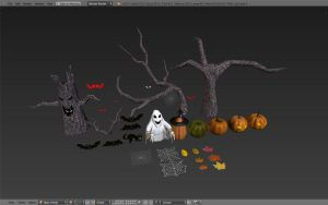 Unity Asset Store - Grand Halloween pack preview by betasector