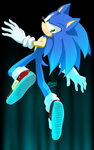 Sanic the blue blur by Myly14
