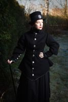 Victorian steampunk coat by sombrefeline