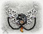 Rise of the Celtic Moon- Giant Dragon Choker by ArtByStarlaMoore