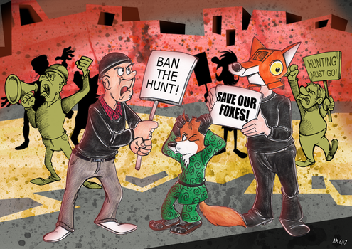 Commission: Ban the hunt and the noise by Granitoons