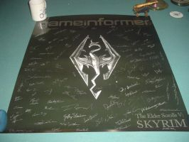My Skyrim Poster that is also Signed by PrincessofdarknessX6