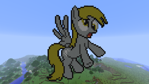 Derpy Hooves Minecraft Pixel Art by Fehlung