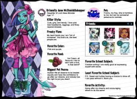 Grimmily Anne McSmiddlebopper from Monster High by AnaAosPedacos