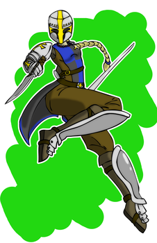 Leaping Knightess by PrehistoricEchoes