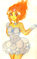 Flame Princess doodle by Natsunohuyana