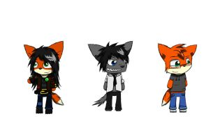 3 Little Chibis by RedSnowFox