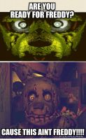 FIVE NIGHTS AT FREDDYS 3 NOT FREDDY?! by Theclassicnathan