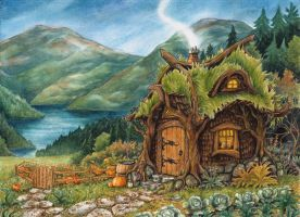 Hagrids Hut by Lhox
