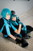 Mikuo and Miku Hatsune - Love is war by xRika89x