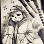 Undertale - Sans by CamiIIe