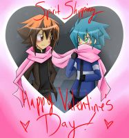 Happy VDay Card  Judai x Johan by Raixal