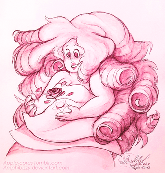 Rose Quartz - Commission by Amphibizzy