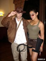 Indiana Jones and Lara Croft Cosplay by EnglishBabyDoll