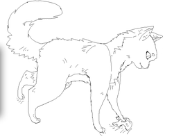 Cat Base / Lineart (Free) by ProgramOllie