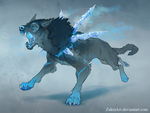 Ice wolf auction by ZakraArt