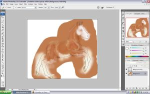 Adoptable Foal WIP by NoodleMutt