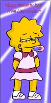 Lisa Simpson by cyborgBLUE