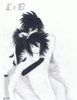 B and L feathers Deathnote by thesleepinghunter