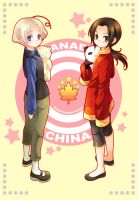 Canada and China by blackmimi