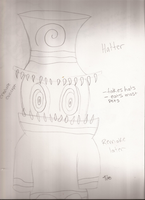 Hatter creature design by Dysfunctional-H0rr0r