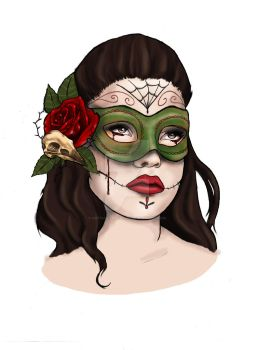 Day of the dead gal by artfullycreative