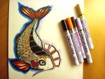The Golden Koi Fish by nedashi