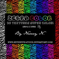 Zebra Color Textures by Neveryph-stock