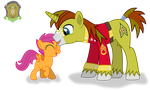 Allen Sparkle meets Scootaloo by DolphinFox