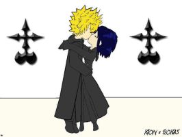 xion and roxas first kiss by Riku-Fan-girL