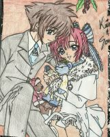 Sora + Kairi, Merry Christmas .:COLORED:. by sorandkiari