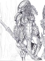 PREDADOR SKETCH FEMALE by vandalocomics