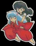 chibi inu and kagome by coonchan13