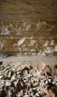 Cave Wall or Rock Wall with Dirt Path by LadyCarolineArtist