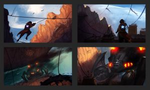 Grapple | Color Studies by RyomaNinja