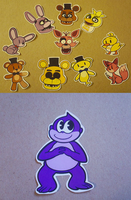 FNAF stickers and Bonzi Buddy Stickers by DuckyDeathly