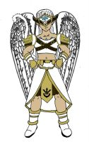 Saiyan Angel [Female] (Colored) by Rojoneo