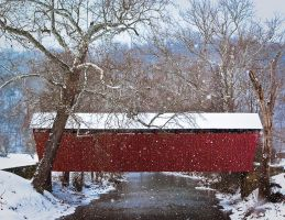 Simpson Creek Covered Bridge by LAlight