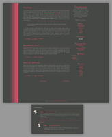 Blogspot template Rozowe na szarym by MySensitiveHeart