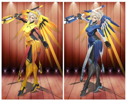 [MMD] Overwatch Mercy Epic Skin by arisumatio