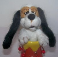 Close up basset puppy by clay-dreams