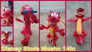 Disney store Mushu 14in by Vesperwolfy87