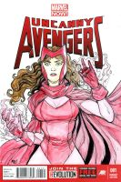Scarlet Witch sketch cover by mdavidct