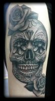 Candy Skull by state-of-art-tattoo