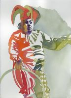 Red and Green Clown by AnitaSR